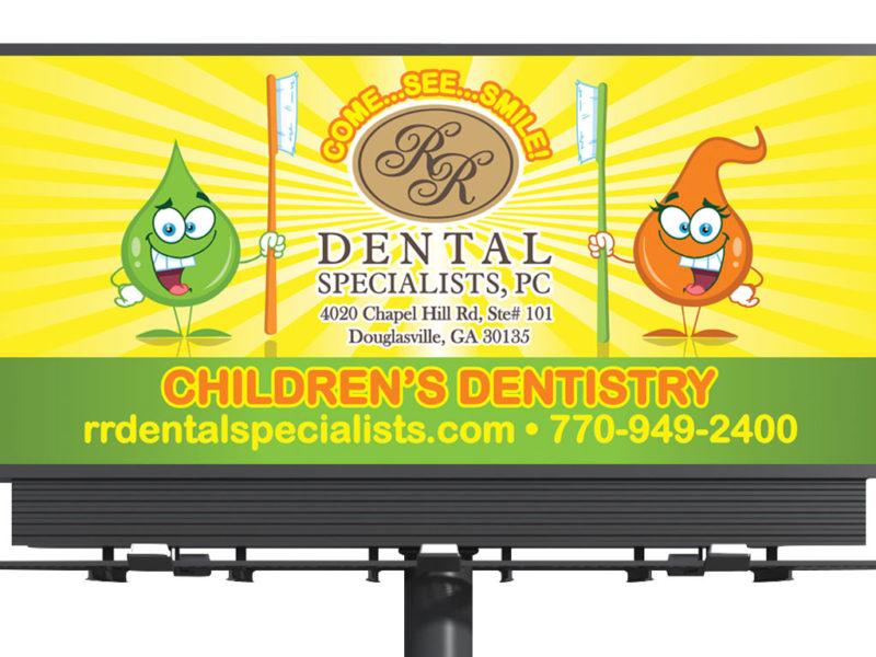 Children's Dentistry Billboard Design - Atlanta, GA region