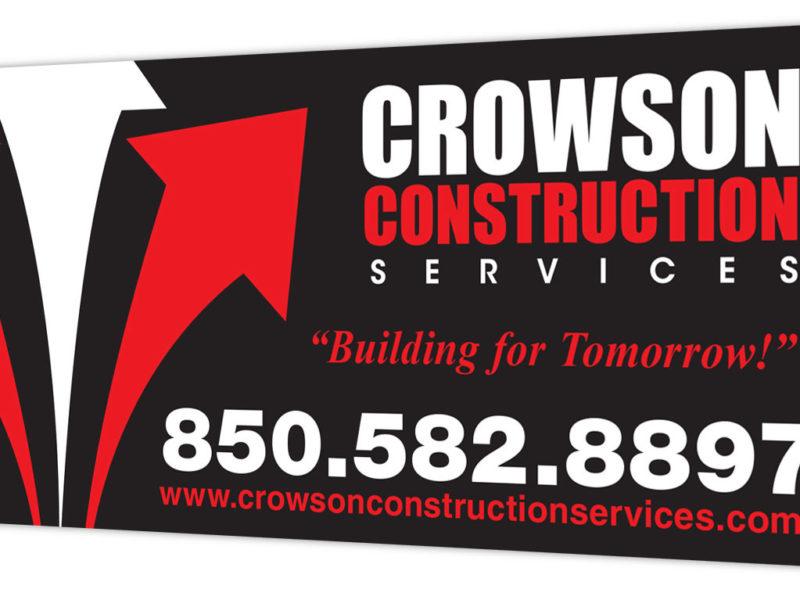 Crowson Construction Sign Design