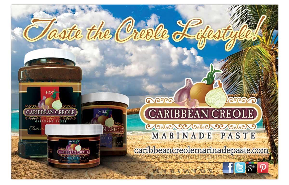 Caribbean Creole Marinade Paste Ad Design