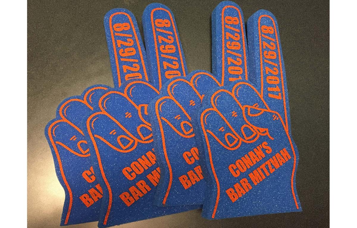 Custom Foam Fingers for Conan O'Brien's Bar Mitzvah