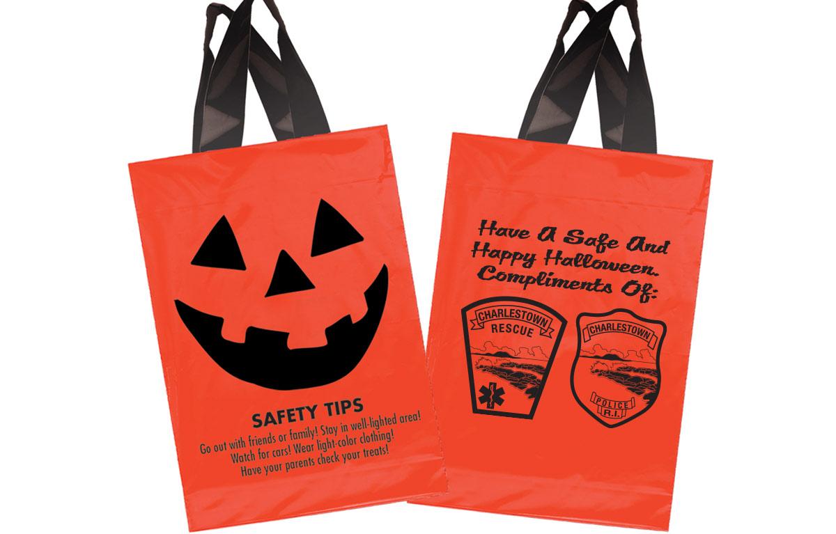 Custom Halloween Trick or Treat Bags - Charleston Rescue and Charleston Police