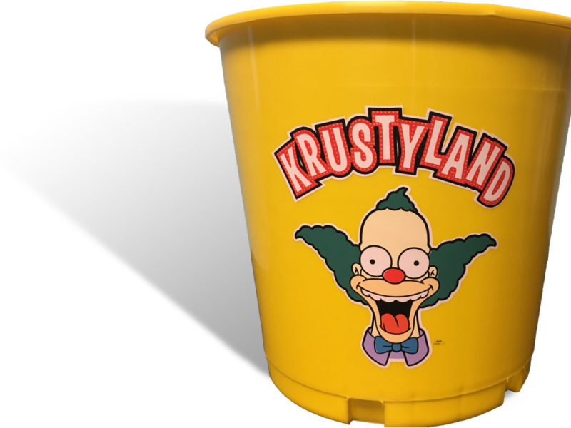 Custom Beer Buckets for Krustyland at Universal Studios Hollywood