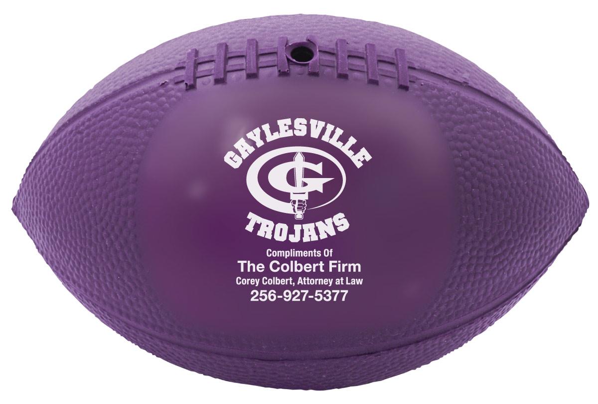 Vinyl Mini Footballs for the Gaylesville Trojans