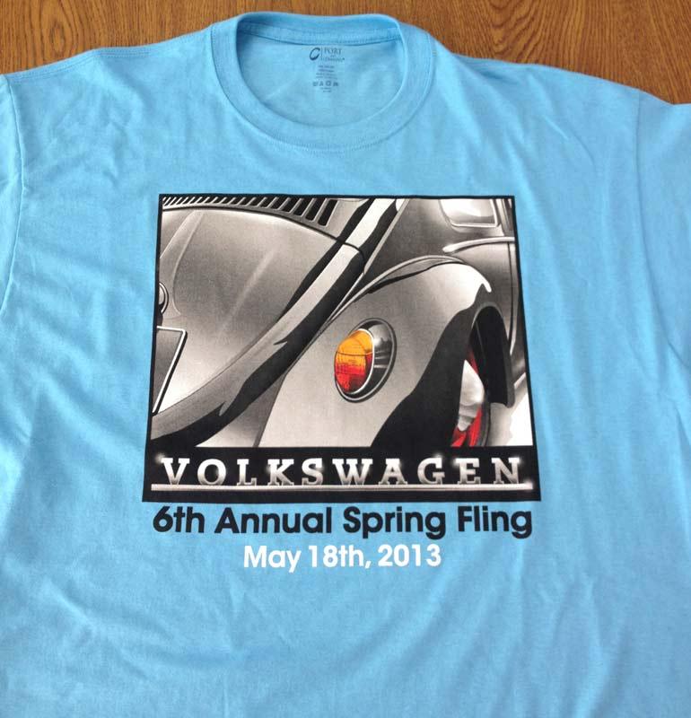 Volkswagen 6th Annual Spring Fling T-Shirt Design