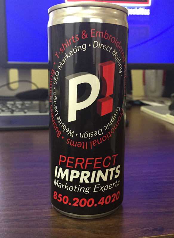 Energy Drink Label for Perfect Imprints