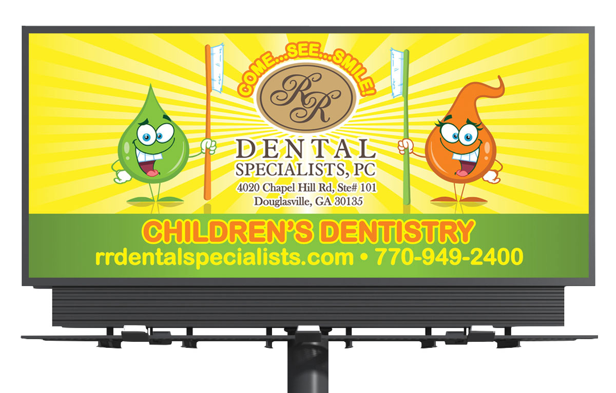 Children's Dentistry Billboard Design - Atlanta, GA region