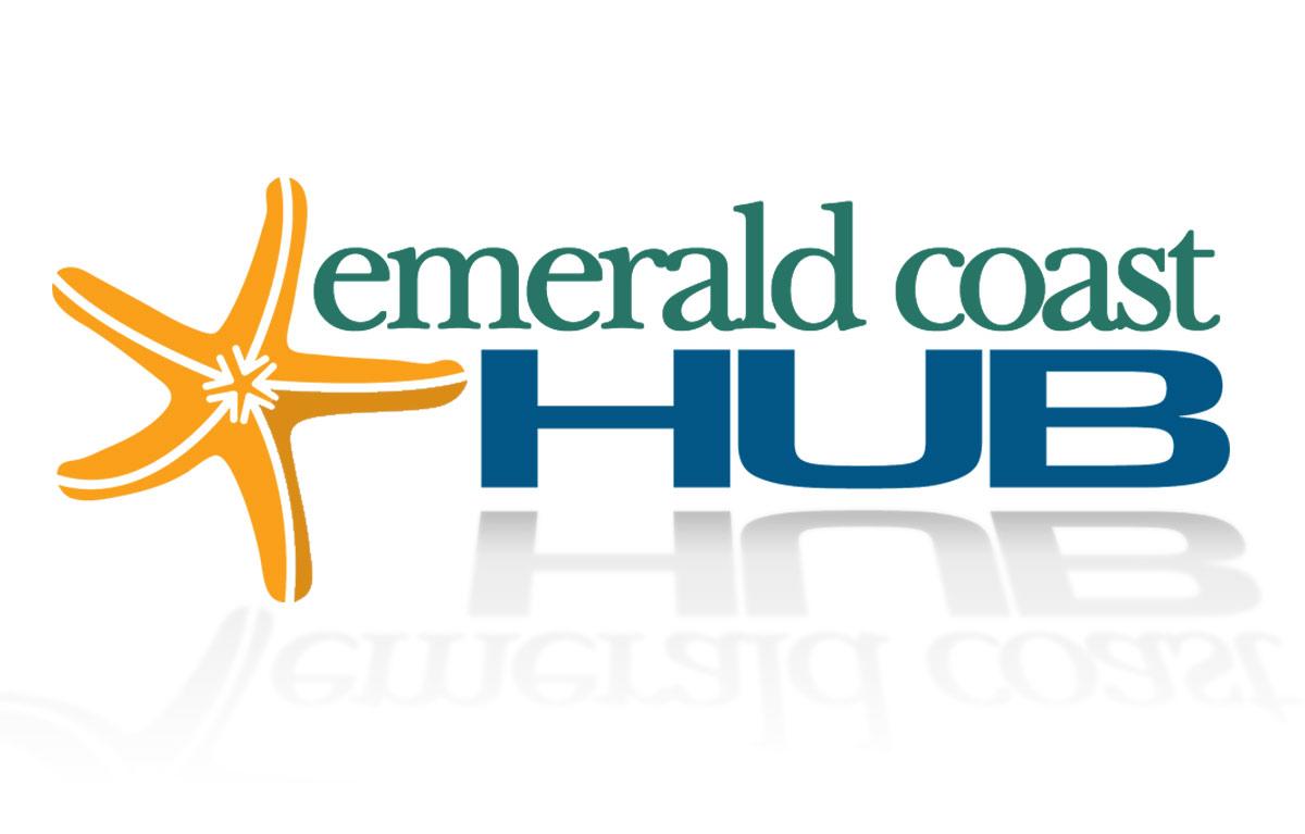 Emerald Coast HUB Logo Design