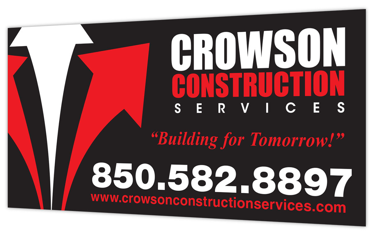 Crowson Construction Sign Design