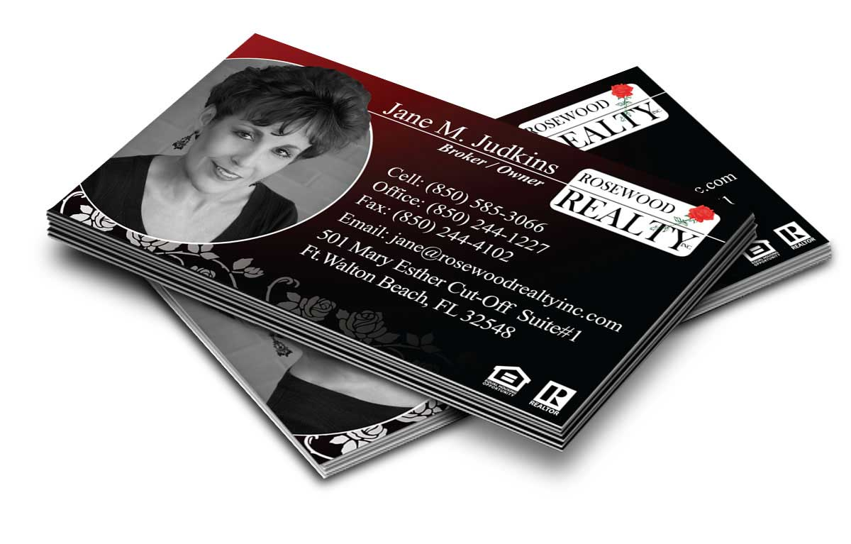 Business Card Design for Rosewood Realty
