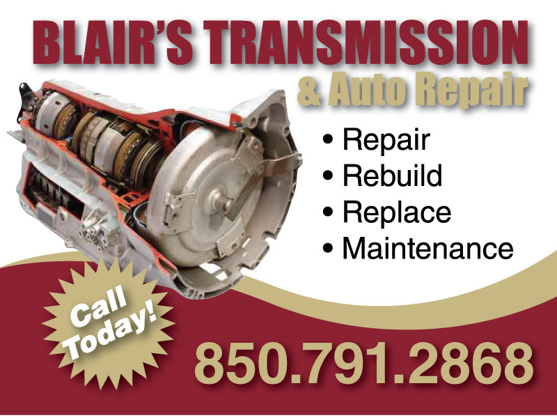Yard Sign Design for Blair's Transmission