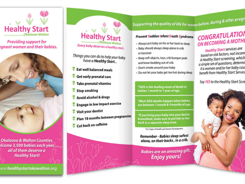 Brochure Design for Healthy Start