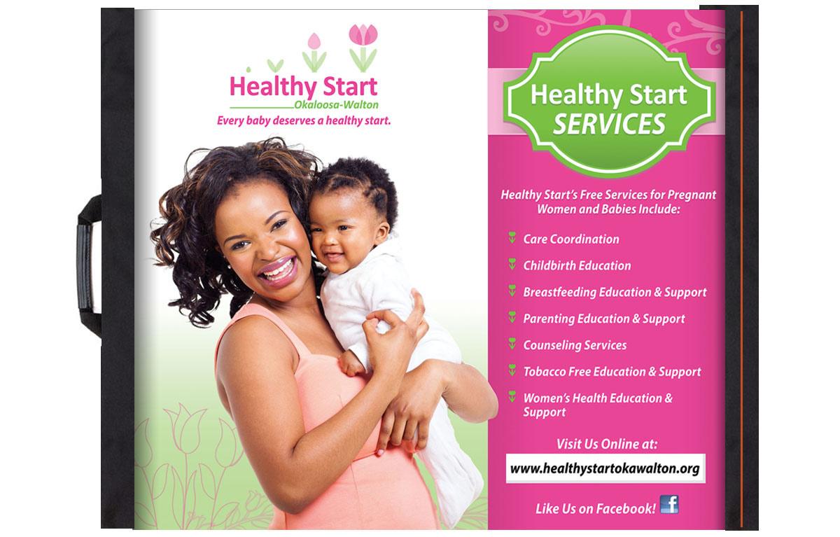 Custom Retractable Banner for Healthy Start