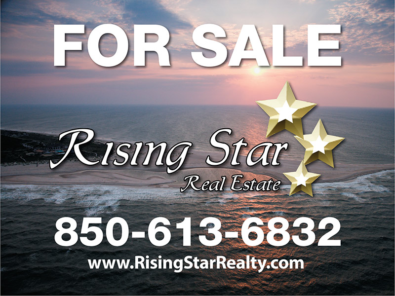 Rising Star Real Estate Sign Design - For Sale