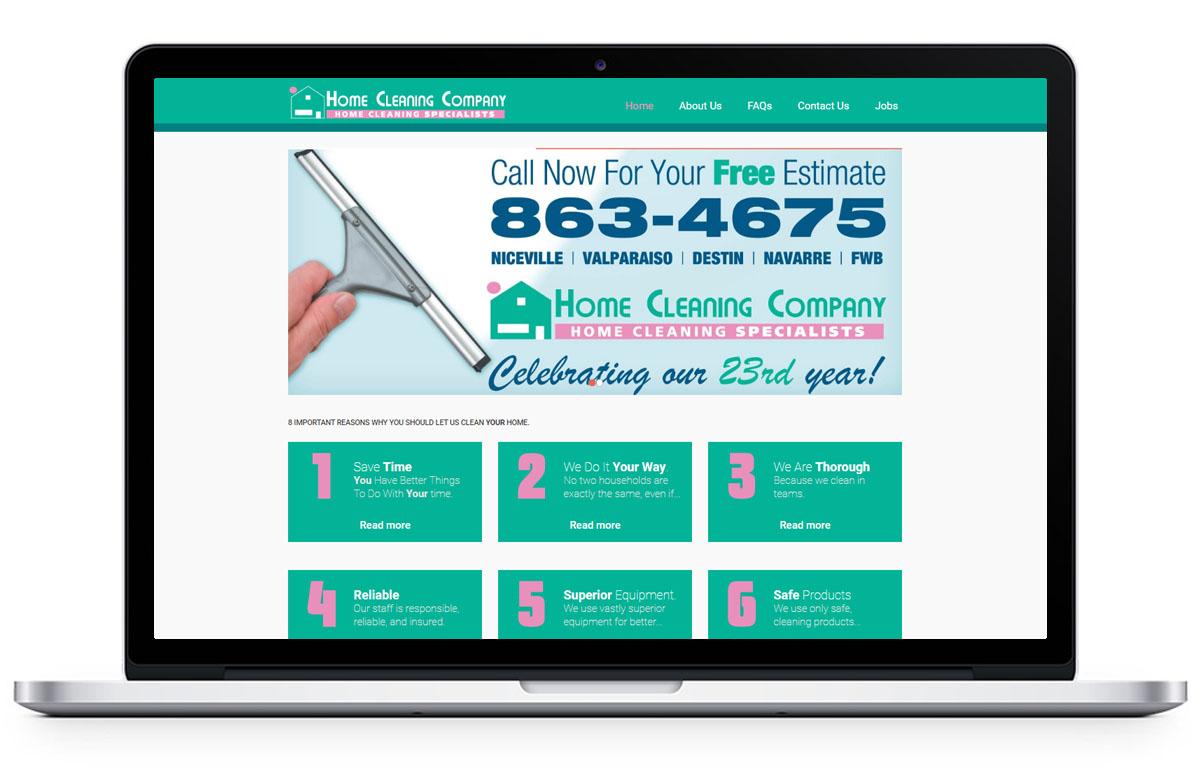 Web Design for cleaningnwf.com