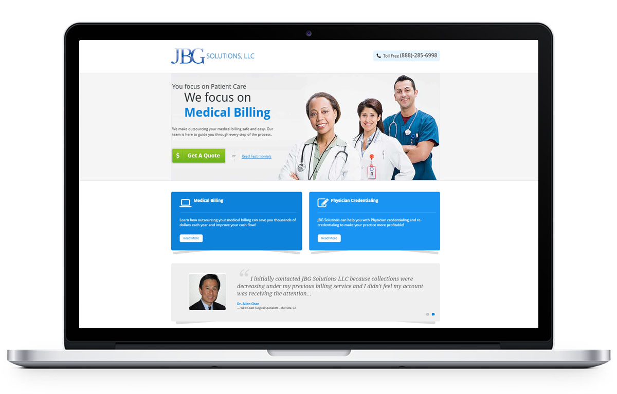 Web Design for jbgsolutions.com