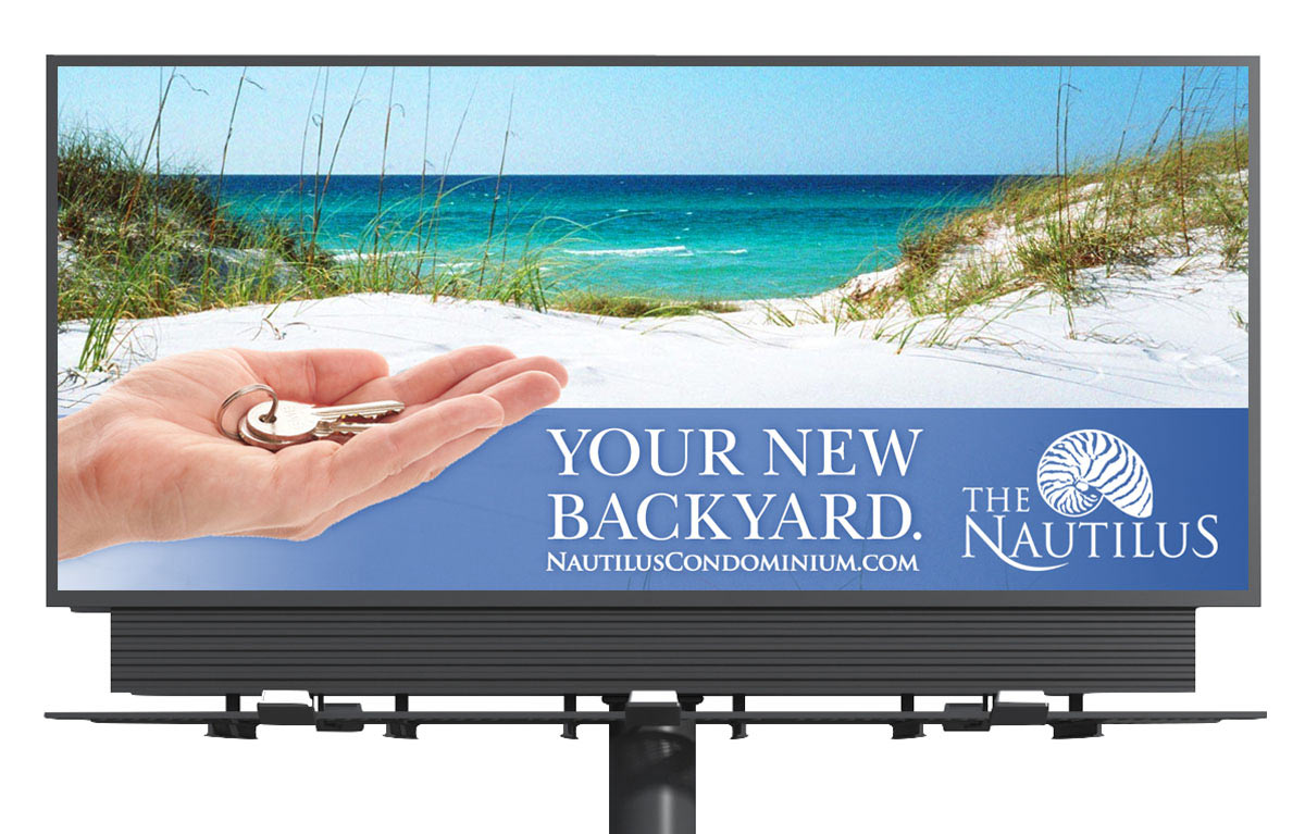 The Nautilus Condominium Billboard Design - Fort Walton Beach