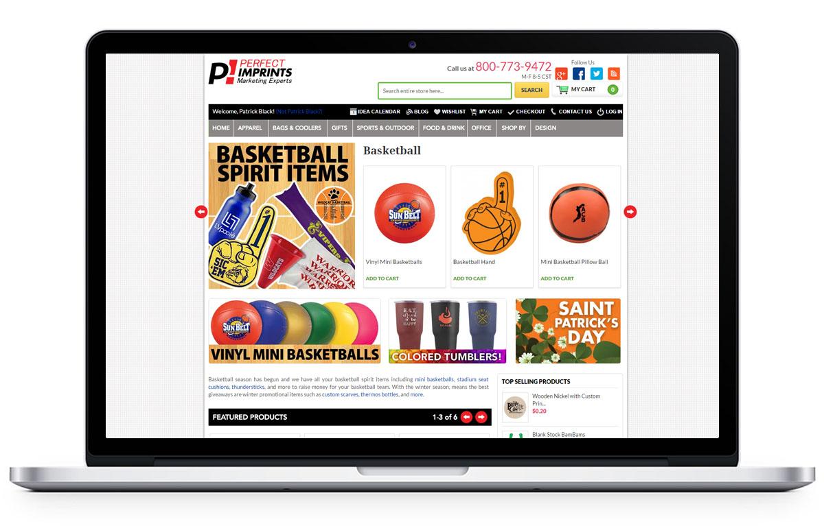 Website Design for Perfectimprints.com