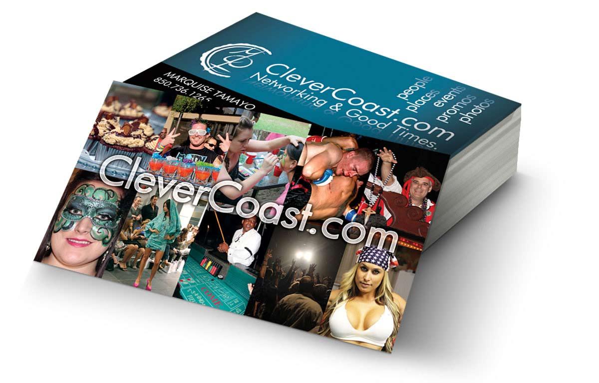 CleverCoast Business Card Design