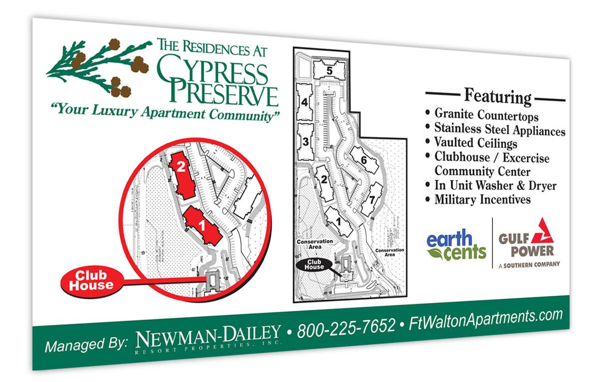 Custom Sign Design for Cypress Preserve Apartments