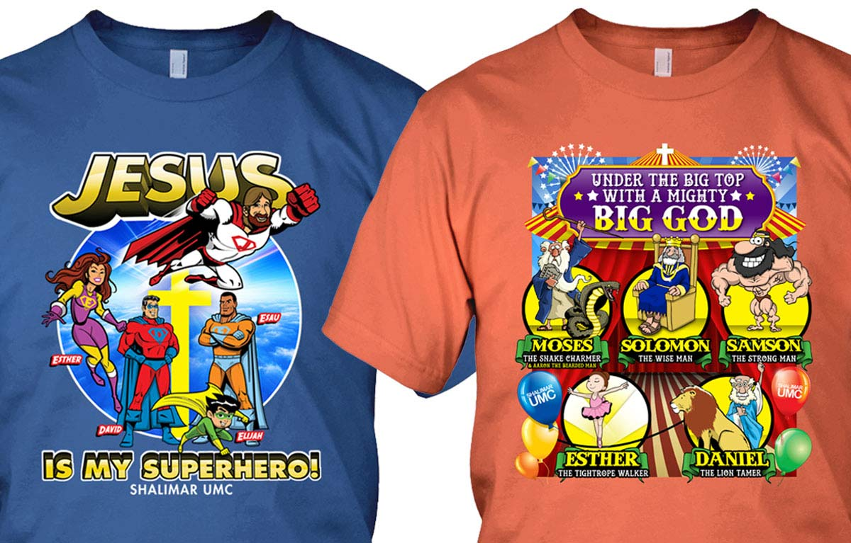 Vacation Bible School Shirt Design for Shalimar United Methodist Church