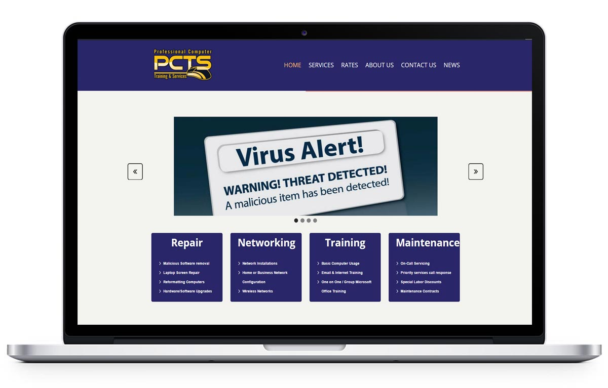 Custom Website for Computer Repair Company - PCTS