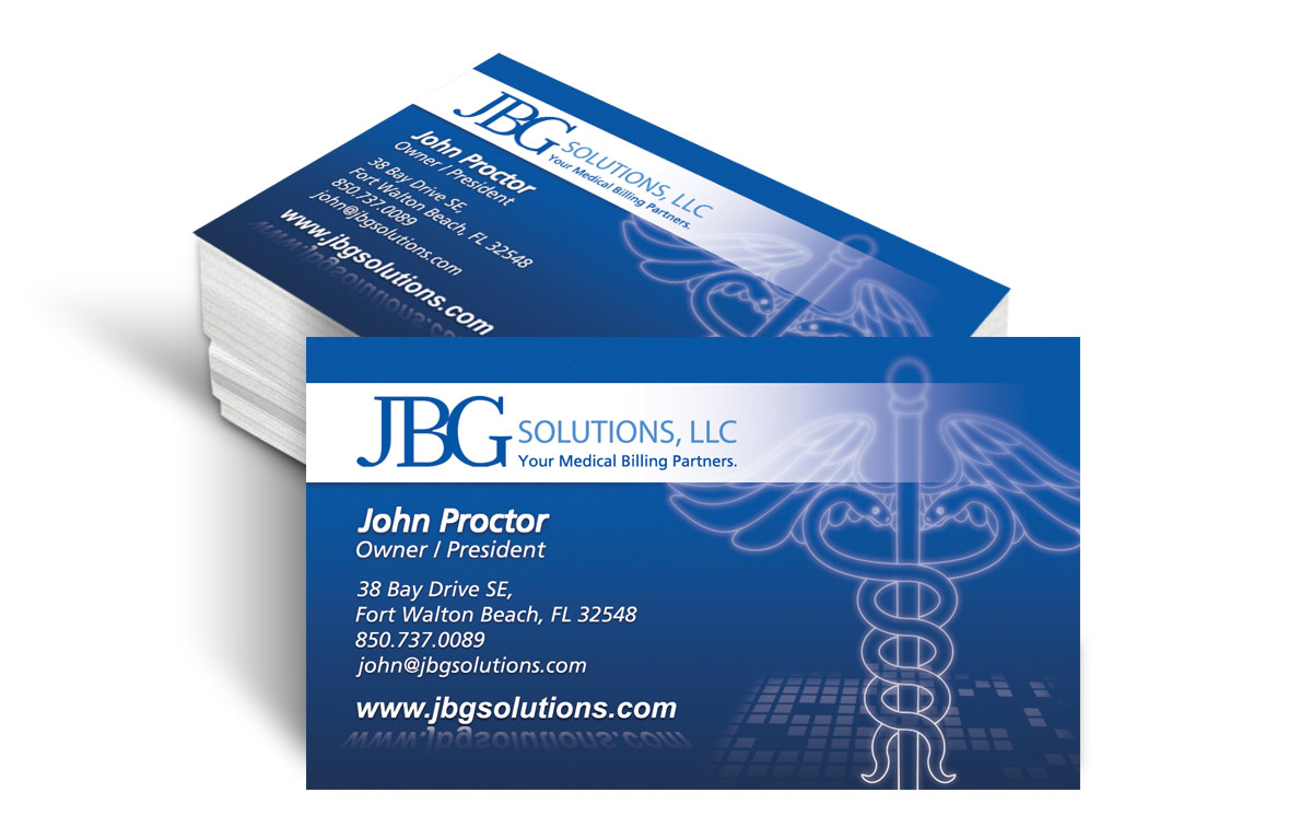 Business Card Design for JBG Solutions