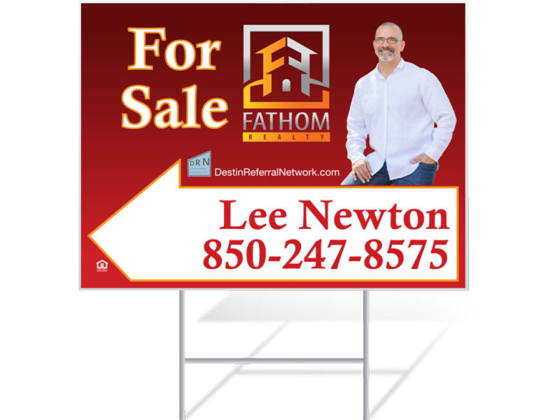 Real Estate For Sale Signs for Lee Newton - Fathom Realty