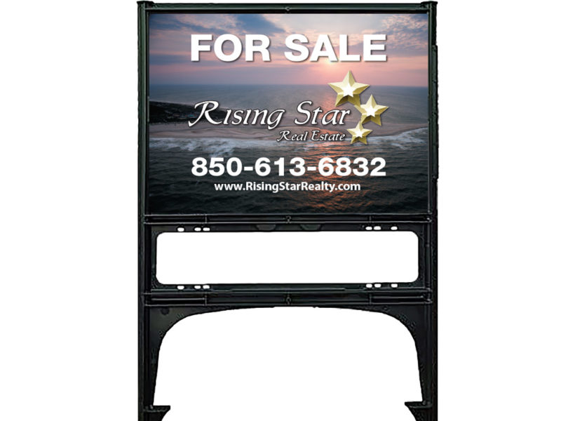 Real Estate Yard Signs with Premium Realicade Sign Frames - Rising Star Realty