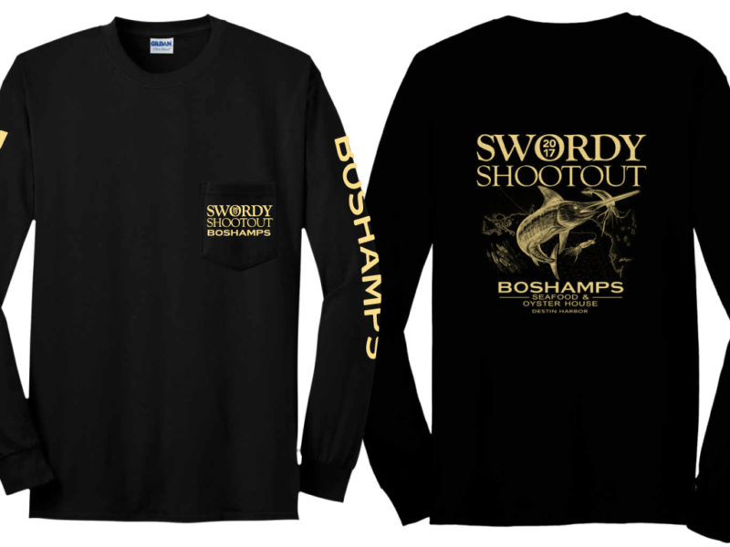 Swordy Shootout 2017 Screen Printed T-Shirts by Boshamps
