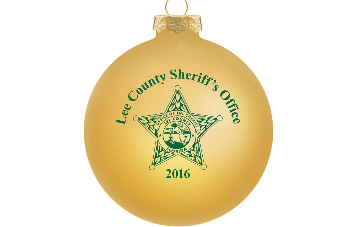 Custom Christmas Ornaments for Lee County Sheriff's Office