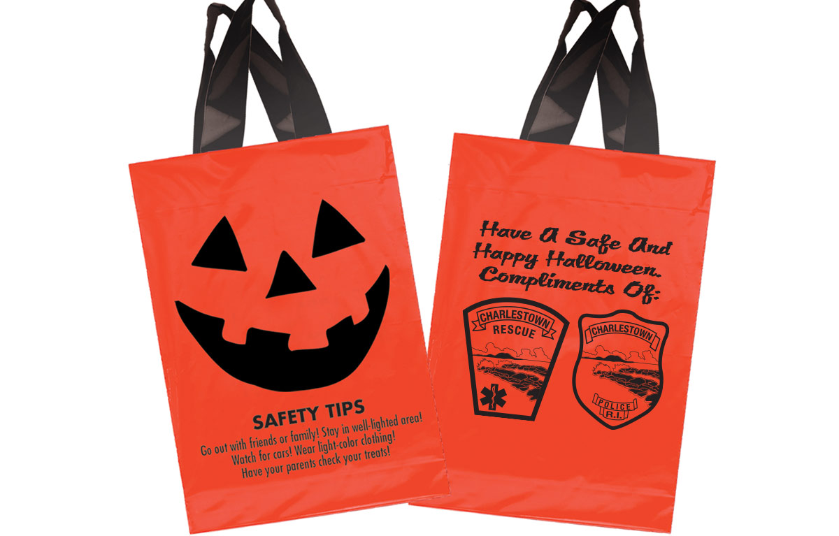 Custom Halloween Trick or Treat Bags - Charleston Rescue and Charleston Police