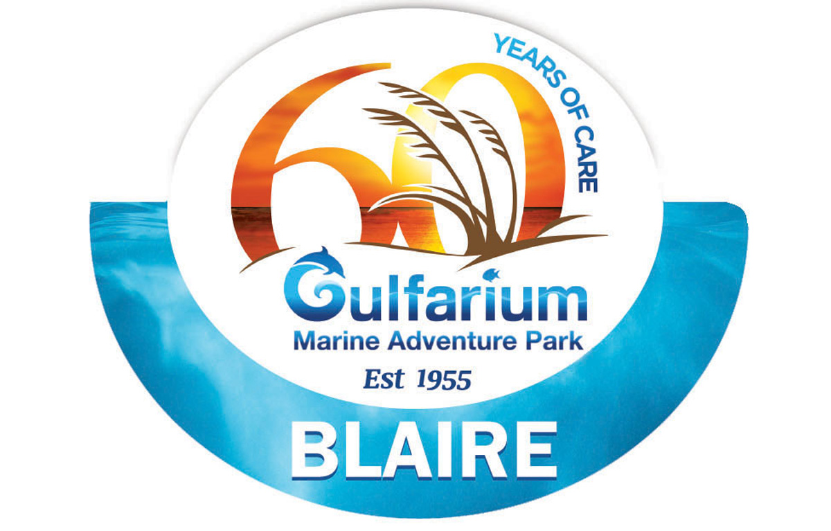 Custom Shaped 60th Anniversary Name Badges for Gulfarium