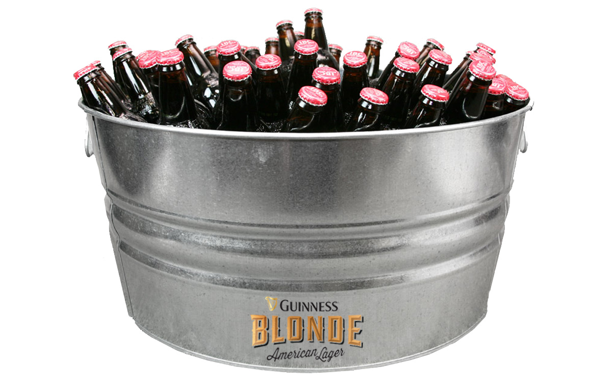 Custom Galvanized Metal Tubs for Guinness