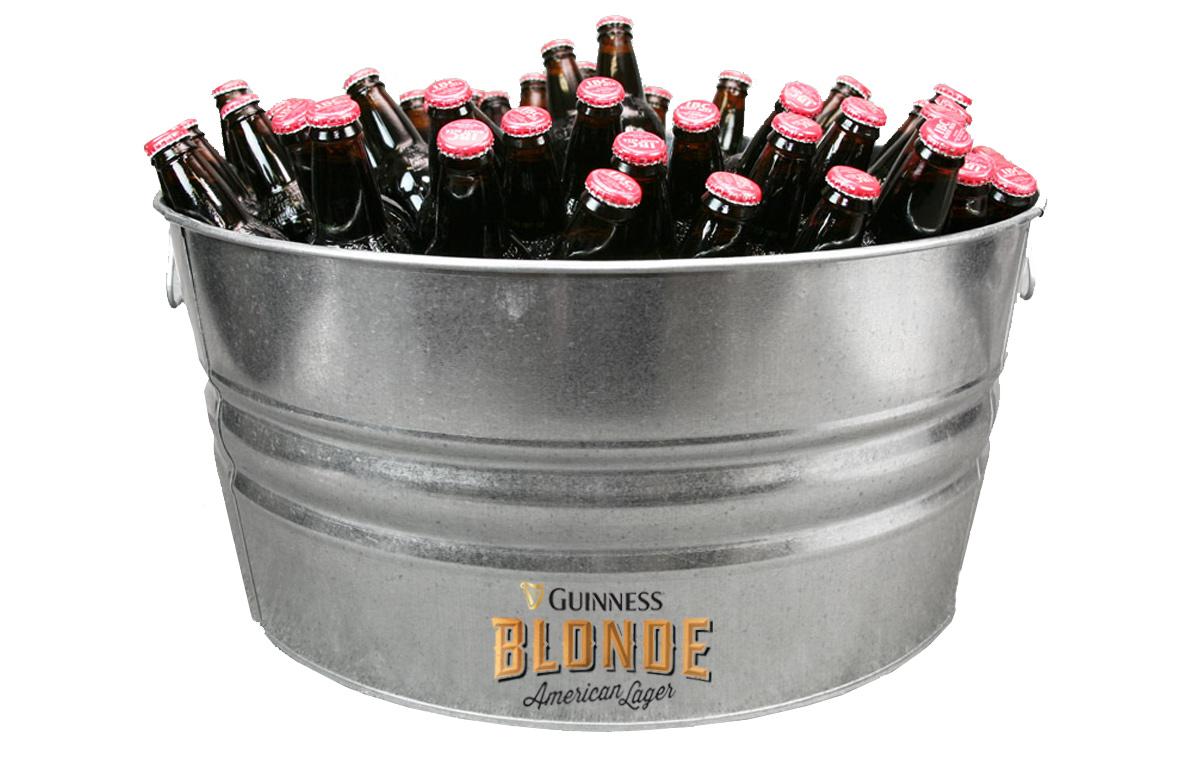 Custom Galvanized Metal Tubs for Guinness