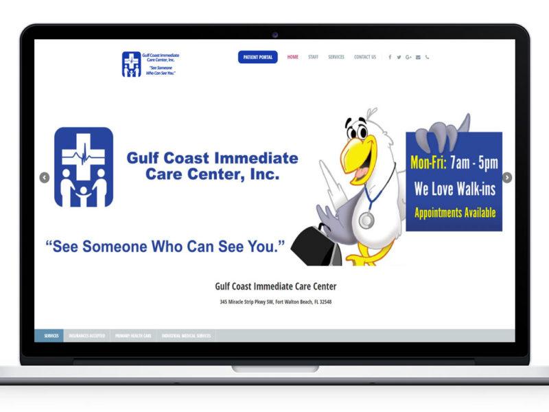 Web Design for Gulf Coast Immediate Care