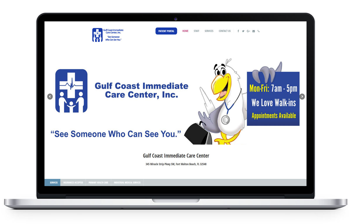 Web Design for Gulf Coast Immediate Care