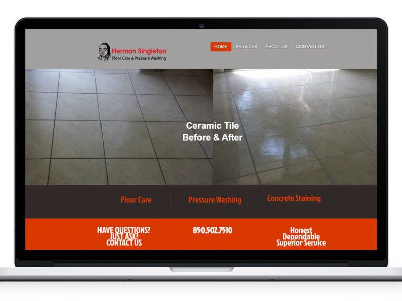 Herman Singleton Floor Care Website Design