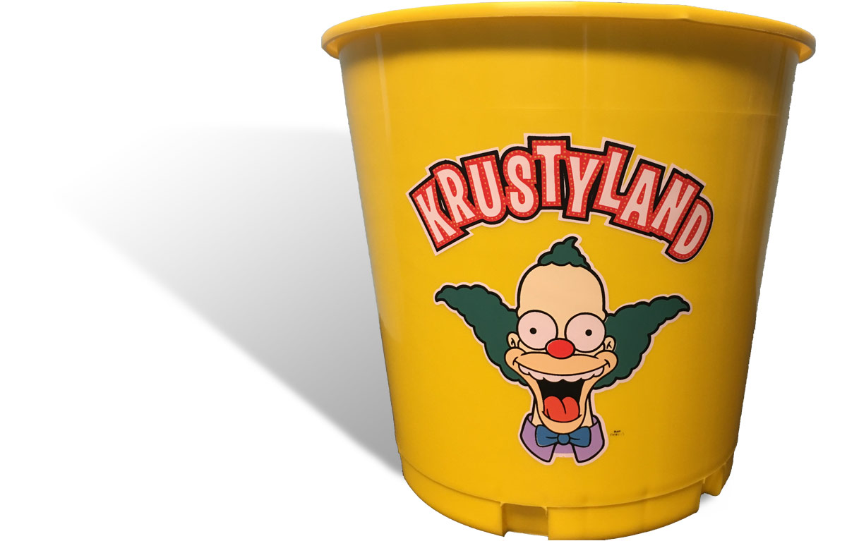 Custom Beer Buckets for Krustyland at Universal Studios Hollywood