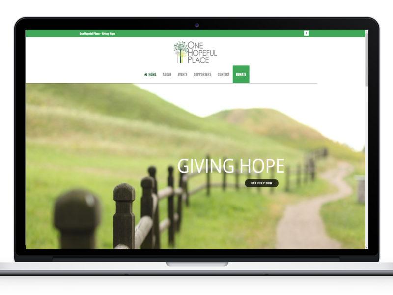 Website Design for One Hopeful Place
