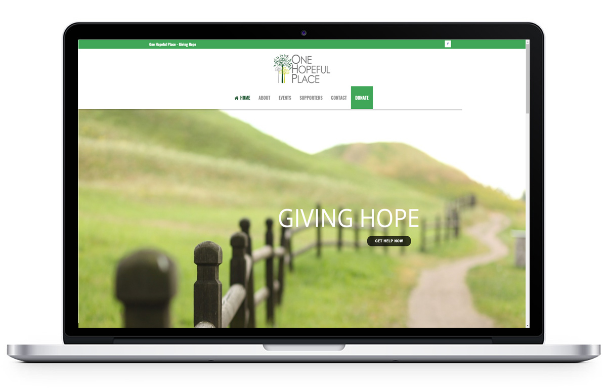 Website Design for One Hopeful Place