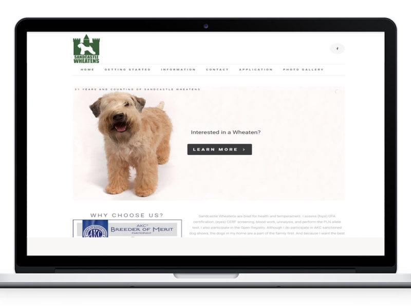 Sandcastle Wheatens Website Design