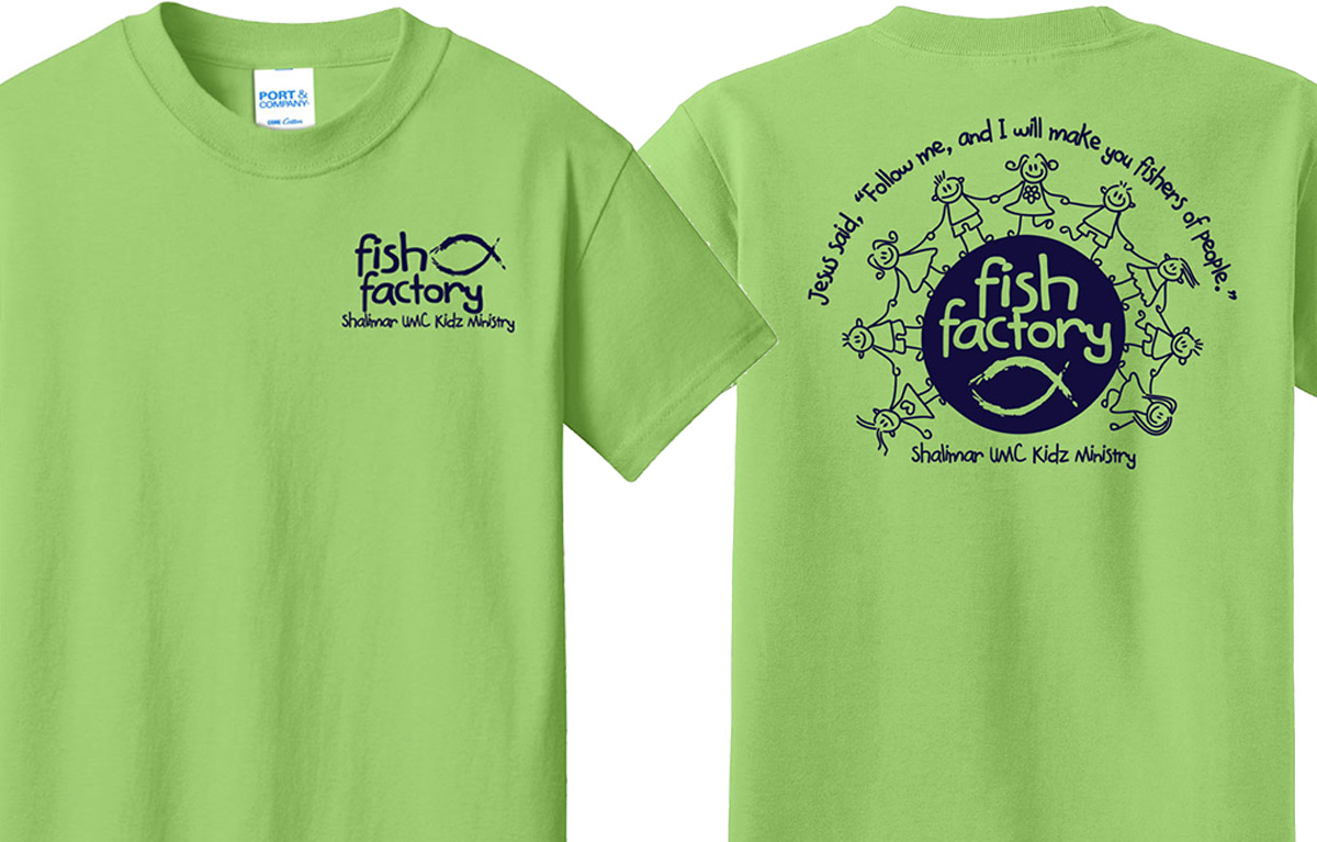 Screen Printed T-Shirts for Shalimar UMC Kidz Ministry