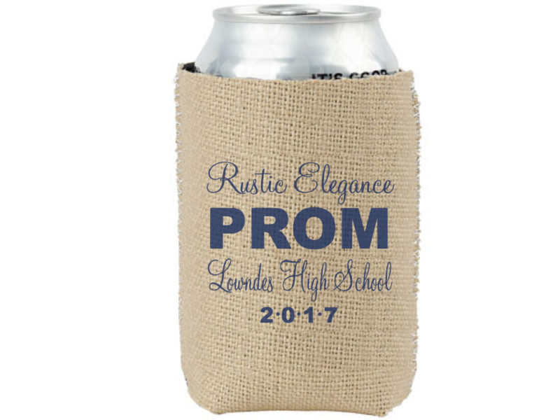 Custom Burlap Koozies for Events and Weddings