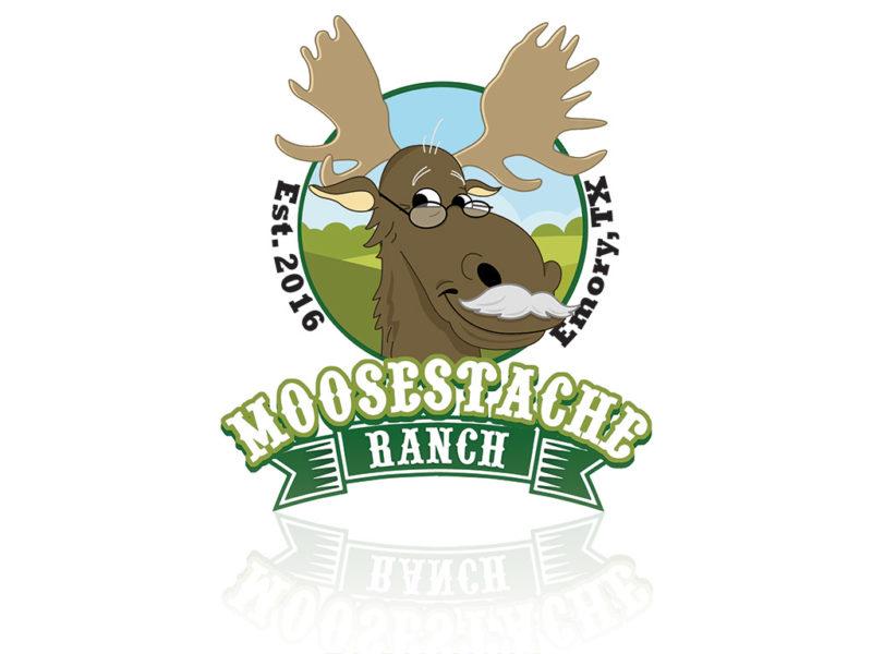 Logo Design for Moostache Ranch