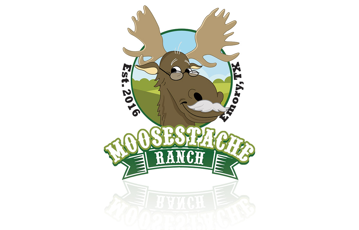 Logo Design for Moostache Ranch
