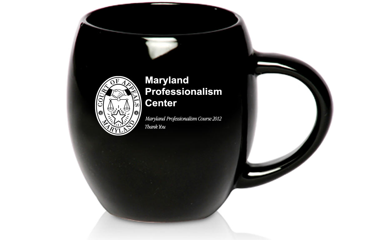 Promotional Coffee Mugs for Maryland Professionalism Center