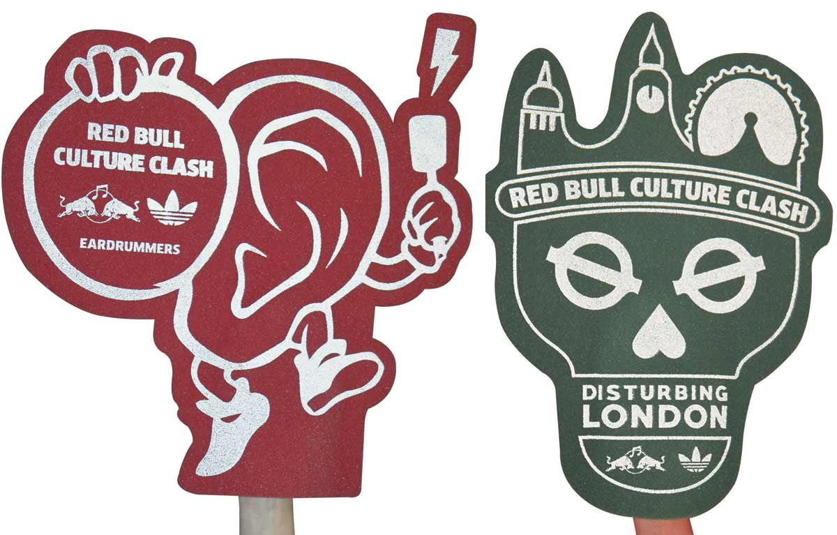 Custom Shaped Foam Hands for Red Bull Culture Clash