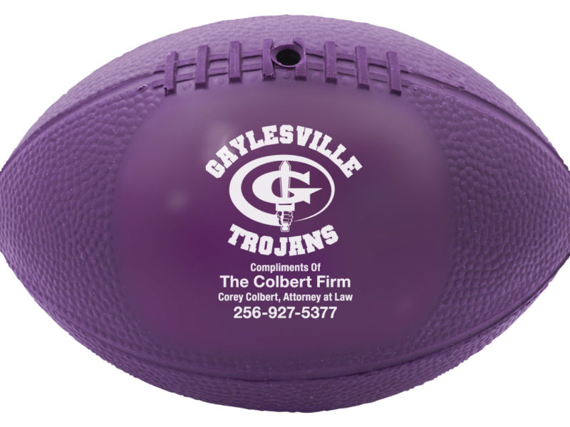 Vinyl Mini Footballs for the Gaylesville Trojans